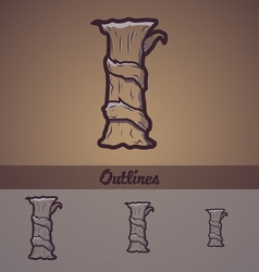 Halloween decorative alphabet - I letter vector image