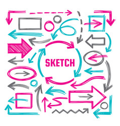 hand draw sketch vector image