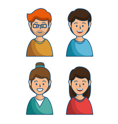 people group avatars icon vector image