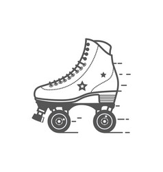 roller skate icon flat related icon for vector image