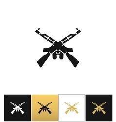 Crossed machine guns like kalashnikov ak47 vector image vector image