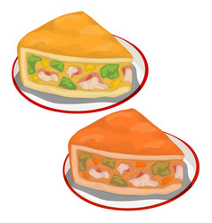 delicious piece of pumpkin pie isolated vector image