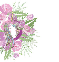 Retro style with flowers and animal vector
