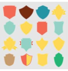 Set of color shield retro vintage badges and label vector image