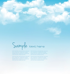 Blue sky with clouds background vector