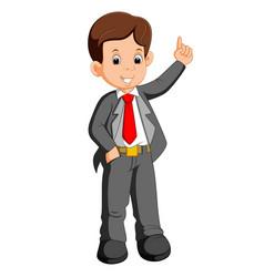 businessman cartoon presenting vector image