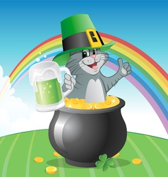 cat St Patricks Day vector image vector image