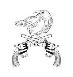 eagle gun tattoo animal design vector image vector image