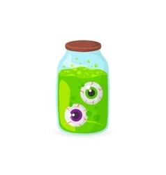 Eyeballs in glass jar vector