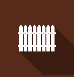 fence flat icon with long shadow vector image