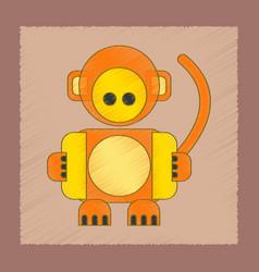 flat shading style icon kids monkey vector image vector image