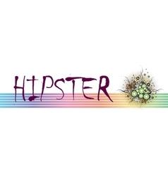 Hipster frame design vector image