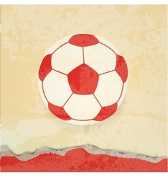 Soccer design retro poster vector image vector image