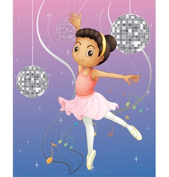 A ballet dancer with disco lights vector image