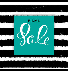 Abstract designs final sale banner template with vector