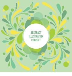 Abstract geometric background - green vector