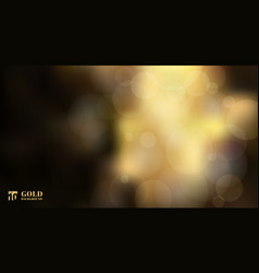 abstract shiny defocused gold bokeh lights on vector image