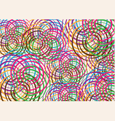 African print fabric ethnic colorful tribal circle vector