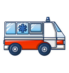 Ambulance truck icon cartoon style vector