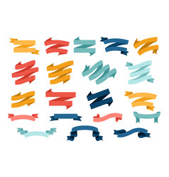 big set different flat ribbons vector image