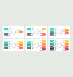 Business infographic organization charts with 3 vector