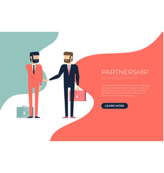 businessman handshake partnership concept vector image
