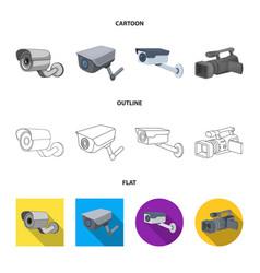 Camcorder and camera logo vector