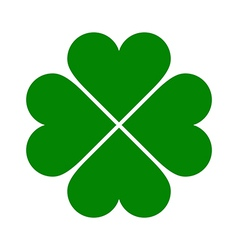 Clover with four leaves icon vector image