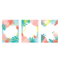 Collection floral abstract backgrounds vector