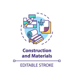 Construction and materials concept icon vector