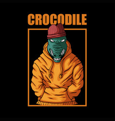 crocodile fashion vector image