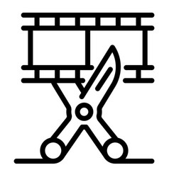 Cut video maker icon outline style vector