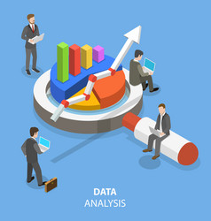 Data analysis flat isometric concept vector