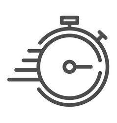 Deadline line icon timer with lines vector