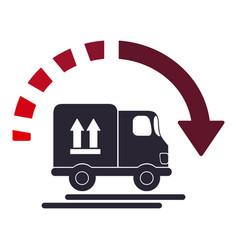 Delivery with arrow icon vector