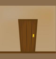 door in corridor beautiful banner wallpaper design vector image