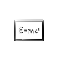 E equal mc 2 hand drawn sketch icon vector