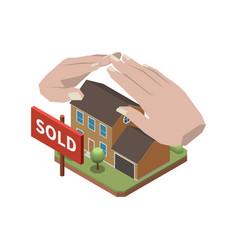 estate agency concept vector image