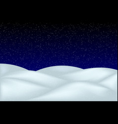 falling snow landscape isolated vector image