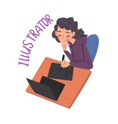 Female freelance designer creative vector