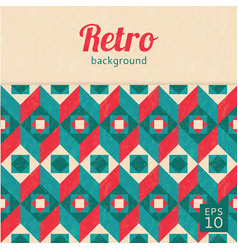 geometric abstract background retro style vector image vector image