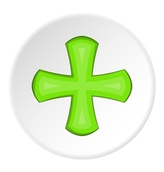 Green cross icon cartoon style vector image