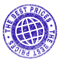 Grunge textured the best prices stamp seal vector
