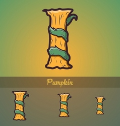 Halloween decorative alphabet - I letter vector