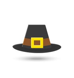 hat black icon vector image