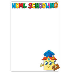 Home schooling theme frame 1 vector