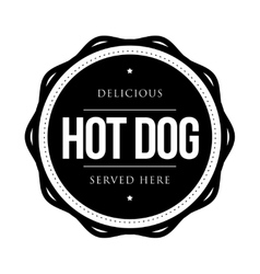 Hot Dog vintage vector image