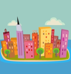 Island City vector image