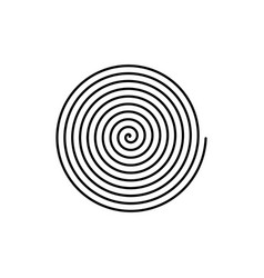Large linear spiral archimedean spiral isolated vector