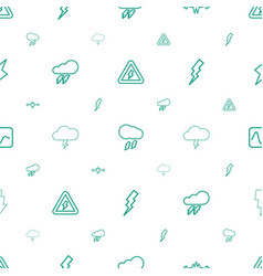 lightning icons pattern seamless white background vector image